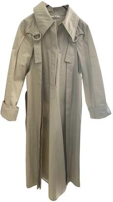 Celine Beige Cotton Coat for Women