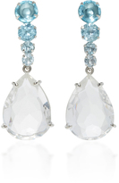 Bounkit Clear and Blue Quartz Two-Way Earrings