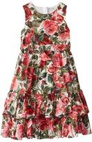 Dolce & Gabbana Floral Poplin Dress Girl's Dress