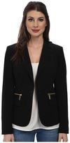 MICHAEL Michael Kors One Button Zipper Blazer