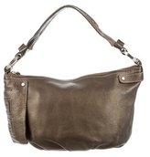 Givenchy Metallic Logo Leather Shoulder Bag