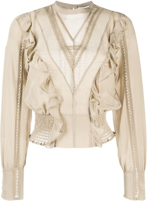 IRO Suite lace-insert blouse