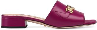 Gucci Zumi leather slide sandal