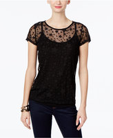 INC International Concepts Illusion Star-Print Top, Only at Macy's