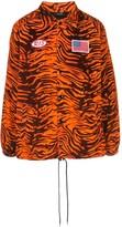 R 13 tiger-print shirt jacket