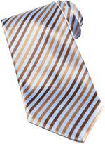 Stefano Ricci Striped Silk Tie, Light Blue