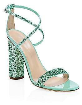 Giuseppe Zanotti Women's Glitter Block Heel Sandals