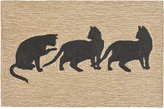 Liora Manné Front Porch Indoor/Outdoor Cats Neutral 2' x 3' Area Rug