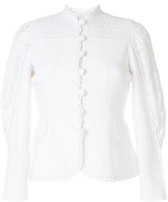 Jonathan Simkhai Dani crochet-panel single breasted jacket