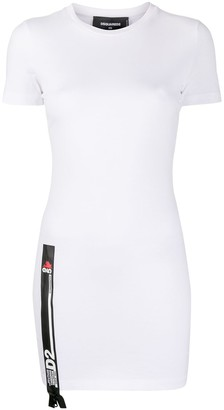DSQUARED2 zip-detail T-shirt dress
