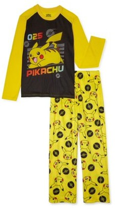 Pokemon Boys Long Sleeve Pajama Set, 2-Piece, Sizes 4-16