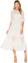 Zimmermann Oleander Diamond Lace Tier Dress