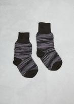Issey Miyake black ikat border socks