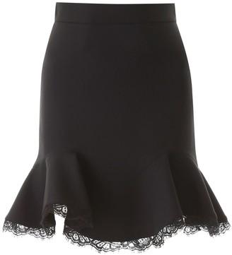 Alexander McQueen Mini Skirt With Lace Hem