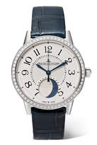 Jaeger-LeCoultre Rendez-vous Moon 34mm Stainless Steel, Diamond And Alligator Watch - Silver