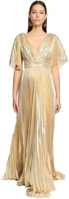 ZUHAIR MURAD Pleated Lame Long Dress