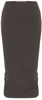 Rick Owens Cotton-blend jersey midi skirt