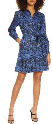 Sam Edelman Geo Print Shirt Dress