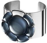 Baccarat B Flower Silver Gemstone Cuff.