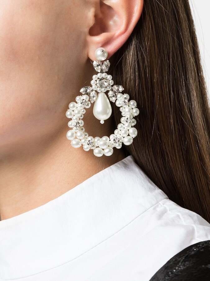 Thumbnail for your product : Simone Rocha Drop Loop Earrings