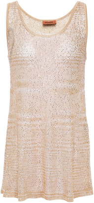 Missoni Sequin-embellished Crochet-knit Tank