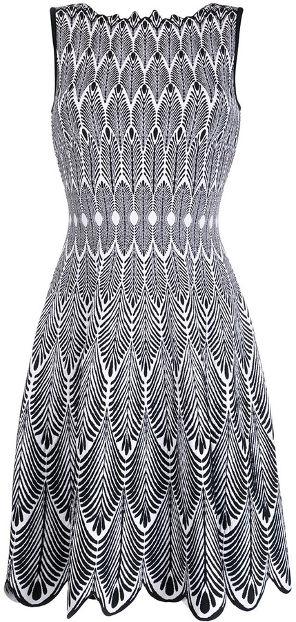 Valenti Antonino feather printed day dress