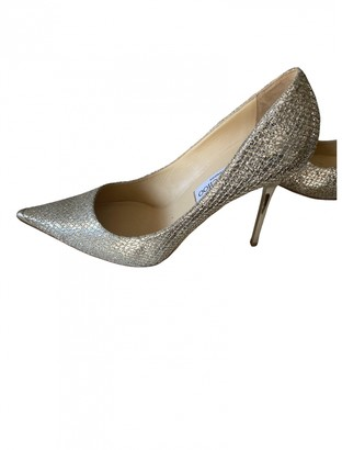 Jimmy Choo Anouk Gold Glitter Heels