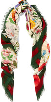Gucci Printed Wool And Silk-blend Scarf - Green