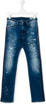 Diesel distressed straight leg jeans
