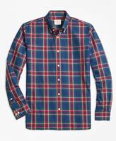 Brooks Brothers Checkered Tartan Broadcloth Sport Shirt