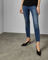Ted Baker Uneven Raw Hem Skinny Jeans