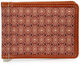 Neiman Marcus Printed Flip Wallet with Money Clip, Red