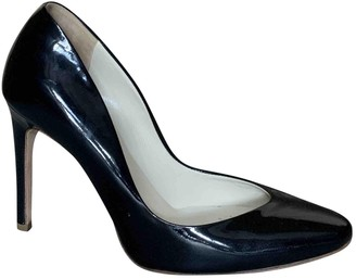 Rupert Sanderson Navy Patent leather Heels
