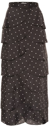 REJINA PYO Flounced polka-dot maxi skirt