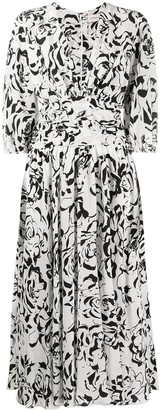 Alexandre Vauthier Flared Floral Print Dress