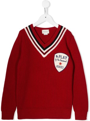 Gucci Kids V-Neck Sweater
