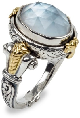 Konstantino Sterling Silver, 18K Yellow Gold & Mother-Of-Pearl Doublet Ring