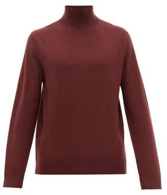 A.P.C. Glen Roll-neck Merino-wool Sweater - Mens - Burgundy