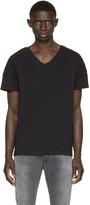 Pierre Balmain Black Topstitched T-Shirt
