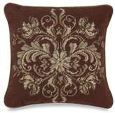 Bed Bath & Beyond Windsor Chocolate/Green 14-Inch Square Needlepoint Throw Pillow