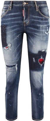 DSQUARED2 Cool Girl Worn-out Details Jeans