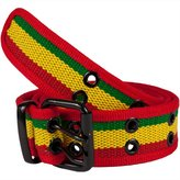 Old Glory Rasta Web Double Grommet Belt - 2X-Large