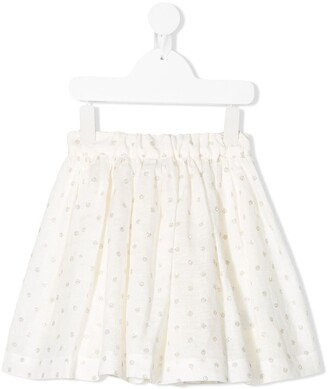 Bonpoint Polka-Dot Print Skirt
