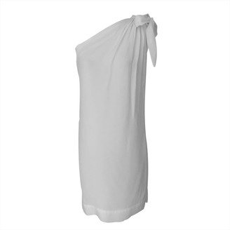 Onelady Fran One Shoulder Dress In Off-White