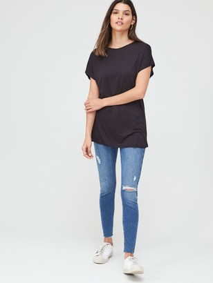 Very The Essential Scoop Neck Top - Black