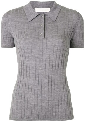 Dion Lee Ribbed Merino Polo Top