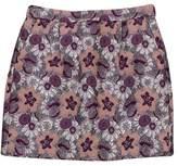 J.Crew Collection Pink Metallic Floral Mini Skirt