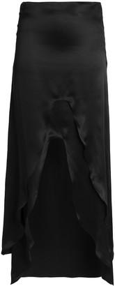 Marques Almeida Layered Silk-satin Maxi Skirt