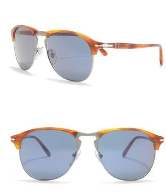 Persol 56mm Gradient Brow Bar Sunglasses