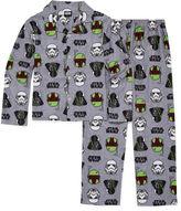 LICENSED PROPERTIES Starwars Coat Front Pajama Set- Boys 4-10